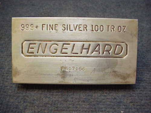 An Jm Poured 100 Oz Silver Bar Measures Roximately 6 1 4 X 3 8 And Weighs 86 Pounds