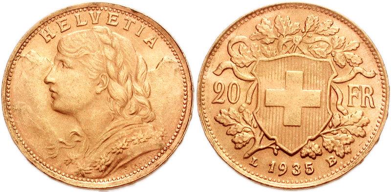 Gold Swiss 20 Franc